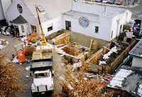 1995: Construction of new kitchen & rooftop beer garden.